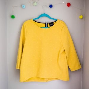 Anthropologie Yellow W5 top.
